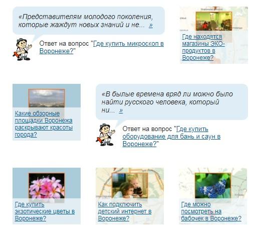 Городские путеводители. Магазины Воронежа